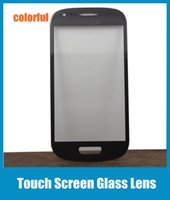 Cheap Touch Screen Glass Lens Outer Glass Film For Samsung Galaxy S3 Mini i8190 Replacement Front Screen Display Glass Cover Colorful SNP012