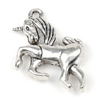 fairy charms - New X21mm Tibetan Silver Fairy tale Kid Unicorn Alloy Charms Pendants fit bracelet or necklace