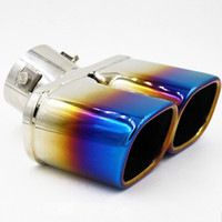 Wholesale 1 New Car Styling Twins Rear Exhaust Muffler Tail Pipe Tail Throat Muffler Tip for Ford Escort