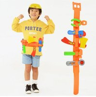 Wholesale 9PCE Baby Engineer Tool Kit toys children play house classic plastic toy kids tools hammer toolbox Simulation tool kit toys