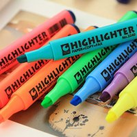 Wholesale 40 Fluorecent Marker pen for paper copy fax Highlighter material escolar canetas office Stationary School supplies