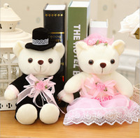 baby love products - 2016 New Popular Product Wedding Decoration Teddy Bear A Couple Pure Love Kawaii Plush Toy Kids Toy Baby Toy