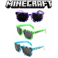 Wholesale 3 styles Minecraft Sunglasses JJ Strange Mosaic Creeper Glasses Online Hot Selling Women Men Cartoon Sun glasses Christmas Gifts