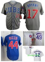 Wholesale 30 Teams Kris Bryant jersey Chicago Cubs Kris Bryant jersey Jake Arrieta Kyle Schwarber Anthony Rizzo jersey size S small XL