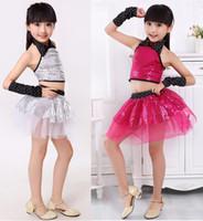 children dance costumes - New girls children dance costumes sequins jazz dance costume dancewear modern dance performance wear Children s Day stage wear