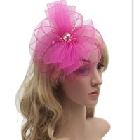 Wholesale Bridal wedding hats for brides New Fascinator Hair hairbands headpieces Party evening bow hair pieces accessories for bridal DHL FREE