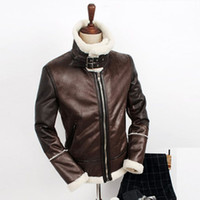 Wholesale Fall HOT Men s fahion New winter Korean heirs same paragraph warm lamb s wool leather clothing fut jacket coat