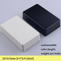 Wholesale plastic enclosure led plastic junction box abs electronic box for projects diy industrial enclosure colors mm