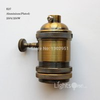 Wholesale Factory Loft Vintage Retro Plated Edison socket holder E27 UL V V Aluminium Lamp Base LB
