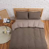 Cheap 2015 bedding set men's plain color coffee cotton 4pcs Fitted sheet set Twin Full King Queen Pillow case Quilt cover Duvet cover set