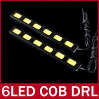 4 LED White 12V 2X COB LED Bar Car High Power Daytime Running Light DRL Fog Driving Lamp White 3 LEDs 4 LEDs 5 LEDs 6 LEDs Module Chip 12V