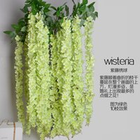 Wholesale 1 Meter Artificial Silk Flower Wisteria Vine Rattan For Wedding Backdrop Decorations Party Supplies