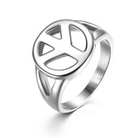 asian symbols - Vintage Cluster Rings for Sale Peace Symbol Designer Engagement Rings Stainless Steel Discount Rings for Men Women R00031