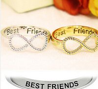 best friend infinity rings - gold silver Plated Best Friends Letter Engraved hot sale Infinity Ring Friendship Women s Infinity Ring Finger Jewelry