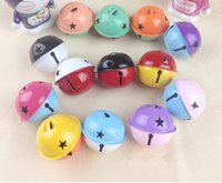 Wholesale DIY jewelry accessories bells Pierced bell stars double color Christmas bells CM