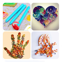 Wholesale 1 Paper Quilling Tool Bifurcation Pen Slotted Plastic Handle Stainless Steel Rolling DIY Craft Flowers Handmade Art