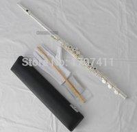 Wholesale Open Holes Flute Silver Plated Offset G Key Split E Italian pads
