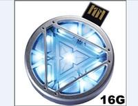 arc sticks - IRONMAN III Arc Reactor with Blue LED light USB stick GB GB GB USB Flash Drive USB thumbdrive pendrive memory stick