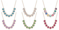Wholesale New Style Crystal Beads Necklace Jewelry Accessories for Women colors by DHL