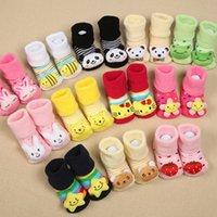 Baby Anti Slip Nouveau-né 0-18Month Cotton Lovely Chaussures Cute Animal Cartoon Chaussons Bottes Boy Girl Unisex Skid Caoutchouc Sole Chaussettes