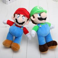 mario plush - 100pcs inches cm NEW SUPER MARIO BROTHERS PLUSH MARIO AND LUIGI DOLLS mario and luigi plush doll toys