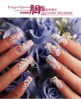 Wholesale Nall Tips new Full Cover False Nails Acrylic Nail Supplies False nails With Glue set Pre Designed Nail Tips Nail Arit