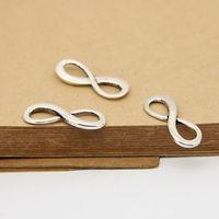Wholesale 50pcs Digital Infinity Sign Charm Jewelry Connectors Pendants mm Antique Silver Bracelet