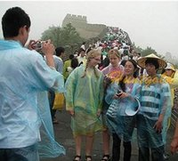 Wholesale 10pc Disposable Outdoor Tourist Raincoat for Travel tour Camping Hiking Rain Cover