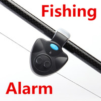 fly rod - Outdoor Fishing Alarm Electronic Fish Bite Alarm Finder Sound Alert Running LED Clip On Fishing Rod Fly Fishing Tackle