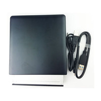 Wholesale 12 mm Universal LG DVD RW X USB External Optical Drive ODD HDD Enclosure case Black Color for for Windows Mac OS X Linux