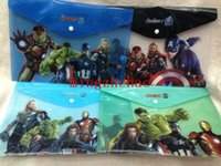 Wholesale The Avengers Character Super Haero plastic holder Office supplies A4 Folders