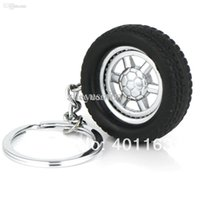 automotive tire chains - Spinning Wheel Rim Keychain Creative Automotive Accessories Auto Part Model Tyre Tire Key Chain Ring Keyring Keyfob Keyfob