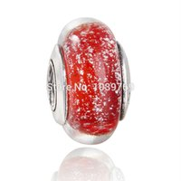 Wholesale pandora Snow White murano glass beads ale sterling silver charms loose beads diy jewelry for thread bracelet GB049
