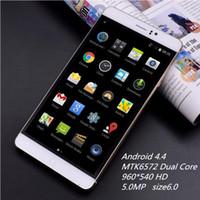 Wholesale 6 Android MTK6572 Dual Core celular RAM GB ROM GB desbloqueado G WCDMA GPS QHD IPS Smartphone JK M8