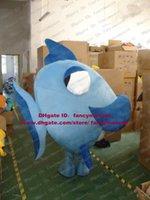 flounder fish - Lovely Blue Flounder Dory Fish Mascot Costume Flatfish Plaice Pomfret Butterfish Platax Teira With Big Eyes No Free Ship