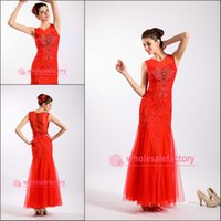 Cheap Sheath/Column Wedding Dresses Best Model Pictures Jewel Red Wedding Dresses