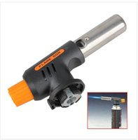 Wholesale Fashion New Gas Torch Butane Auto Ignition Camping Welding Flamethrower BBQ Travel ISP
