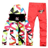 Wholesale New Style Gsou snow Collocation snowboard ski suit jacket clothes sets pants windproof waterproof ski jacket