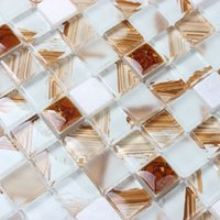 mosaic tile - Crystal glass mosaic tile puzzle backdrop wall stickers living room TV KTV bar mirror