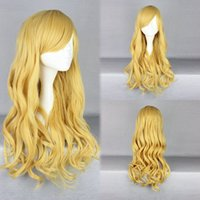 active average - gt gt High Quality Attractive Lemon Yellow Active Long Curly Lolita Wig