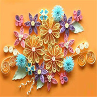 Wholesale Quilling Paper Craft Kits Collection Set Tool Rolling Strips Flower Cummerbund Material DIY Home Decoration Crafts Ornament