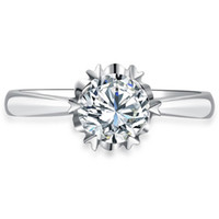 al por mayor anillo de diamante natural de oro blanco-013 CPP 0,2 100% diamante natural SÓLIDO 14K ANILLO DE BODAS DE ORO BLANCO AMARILLO COMPROMISO PARA LA MUJER, diamante verdadero ANILLO
