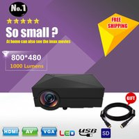 portable games video - 2015 NEWEST GM60 HD Home Theater MINI Projector For Video Games TV Movie Support HDMI VGA AV SD Portable