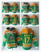 nhl jersey - Cheap Top Quality NEW Men s Anaheim Ducks Hoodie NHL Selanne Green Fleece jersey Mixed order