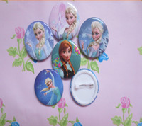 Wholesale In stock Frozen Cartoon Pin Badge cm Anna Elsa Princess Olaf Costume Cosplay Boys Girls Toy Fashion Badges