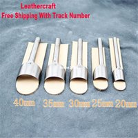 leather tool belts - New Leather craft Half Round Cutter Punch Strap Belt Wallet MM Punch Tool Leather Tools Making Tool
