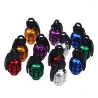 Wholesale 2PCS Weatherproof and Durable Grenade shaped Alloy Valve Caps Bicycle MTB BMX Car Tire Valve Anti Dust Covers Top Quality CY0716