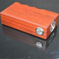 Wholesale high quality good price mechanical wooden box mod newest high power box mod Cloudy Tech wooden box mod
