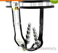 Cheap NEW Female Stainless Steel Adjustable & Lockable Chastity Belt Devices + 2 PLUG Sex toys for Women