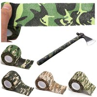 Wholesale 5cmx4 m Army Camo Outdoor Hunting Shooting Tool Camouflage Stealth Tape Waterproof Wrap Durable Cloth Tape